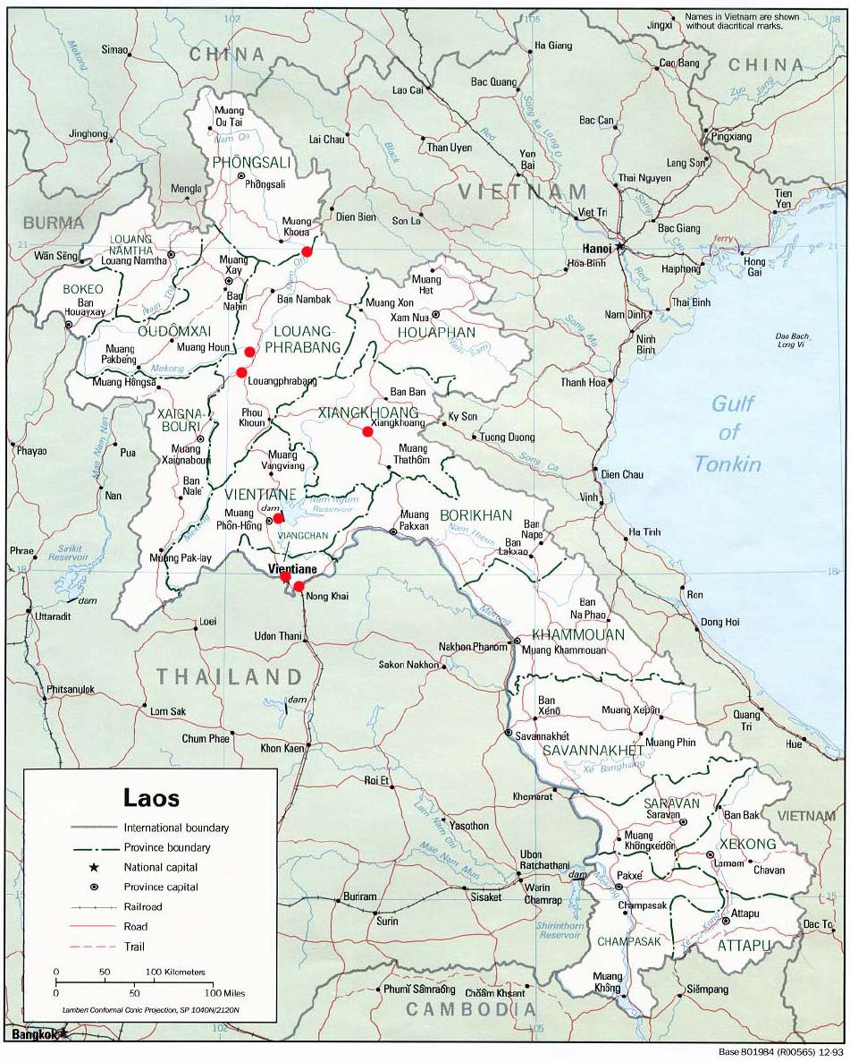 Laos Karte.Laos 2 Karte Von Laos