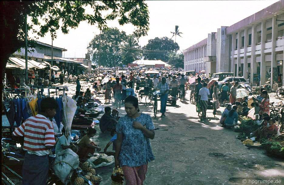 Myitkyina Myanmar  city images : Morgens gab es ein heftiges Tropengewitter. Die Straßen waren ...