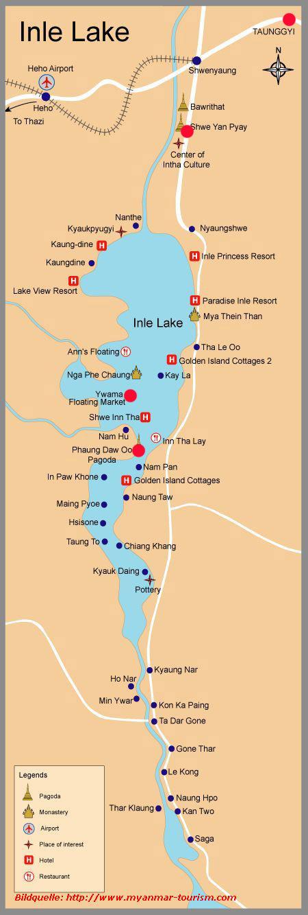 Karte Myanmar.Karte Inle See